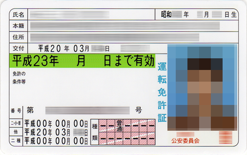 XMTrading口座開設・自動車運転免許証
